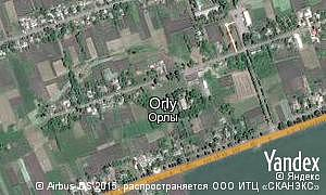 Map of  village Orly