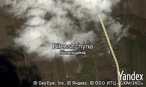 Map of  village Bilenshchyna