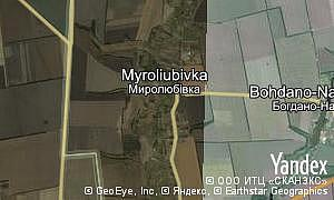 Map of  village Myroliubivka