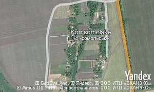 Map of  village Komsomolske