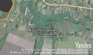Map of  village Krasnoivanivka