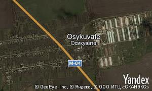Yandex map of  village Osykuvate