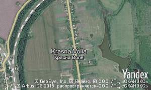 Map of  village Krasna Volia