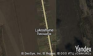 Map of  village Lykoshyne