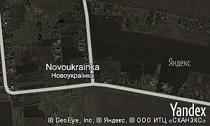 Map of  village Novoukrainka