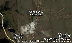 Map of  village Chigrinovka