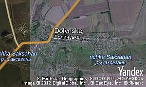 Map of  village Dolynske