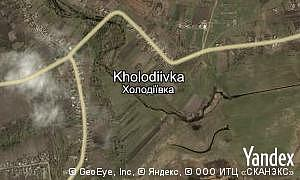 Map of  village Kholodiivka