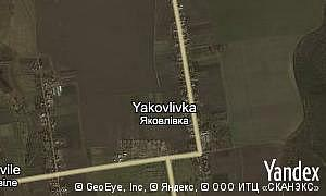 Map of  village Yakovlivka
