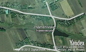 Map of  village Znamenivske