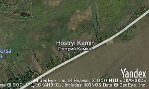Map of  village Hostryi Kamin