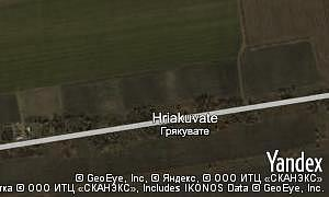 Satellite map of  village Hriakuvate