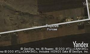 Satellite map of  village Popove