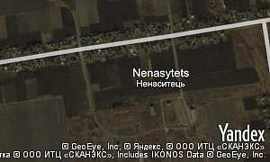 Satellite map of  village Nenasytets
