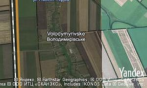 Map of  village Volodymyrivske