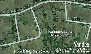 Map of  village Kamianuvatka