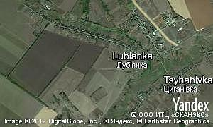 Map of  village Lubianka