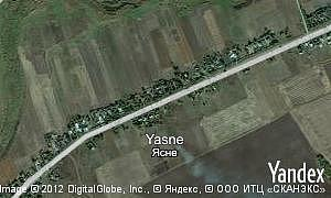 Yandex map of  village Yasne