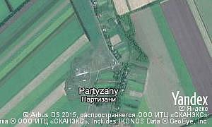 Map of  village Partyzany
