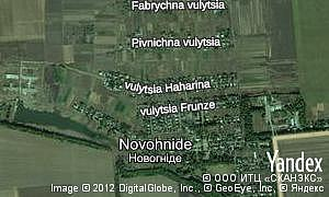Map of  village Novohnide