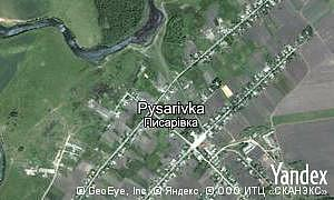 Map of  village Pysarivka