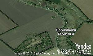 Map of  village Bohuslavka