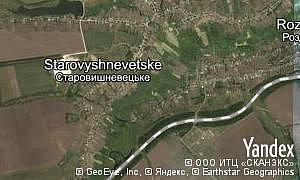 Map of  village Starovyshnevetske