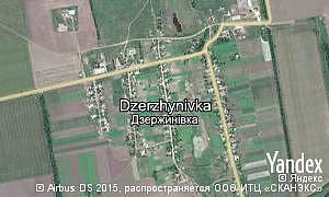 Map of  village Dzerzhynivka