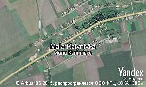Google map of  village Mala Kalynivka
