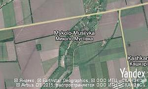 Map of  village Mykolo-Musiivka