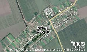 Satellite map of  village Myropil