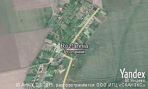 Google map of  village Roztannia
