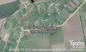 Map of  village Chervonoarmiiske