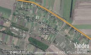 Map of  village Riasne