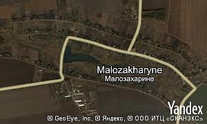 Yandex map of  village Malozakharyne