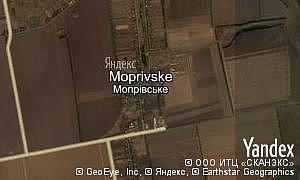 Yandex map of  village Moprivske