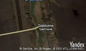 Yandex map of  village Traktorne