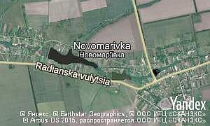 Map of  village Novomarivka