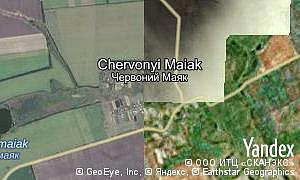 Map of  village Chervonyi Maiak