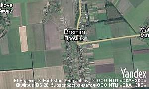 Map of  village Promin