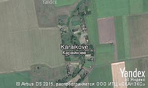 Yandex map of  village Karaikove