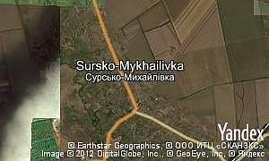 Map of  village Sursko-Mykhailivka