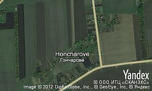 Map of  village Honcharove