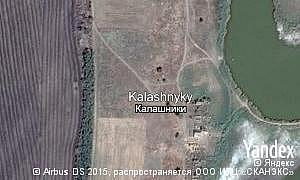 Map of  village Kalashnyky