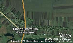Map of  village Marie-Dmytrivka