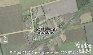 Map of  village Novi Kovna