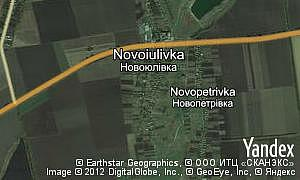 Map of  village Novoiulivka