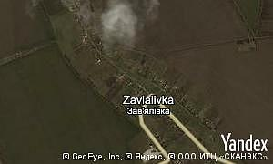 Map of  village Zavialivka