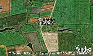 Map of  village Zhmeryne