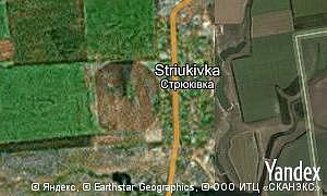 Map of  village Striukivka